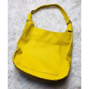 Shiraleah Yellow Vegan Leather Shoulder Bag Purse